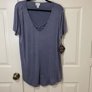 NWT AVA & VIV STRAPPY NECK T-SHIRT